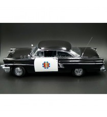MERCURY MONTCLAIR HARD TOP POLICE 1956 NOIR / BLANCHE 1:18 SUN STAR