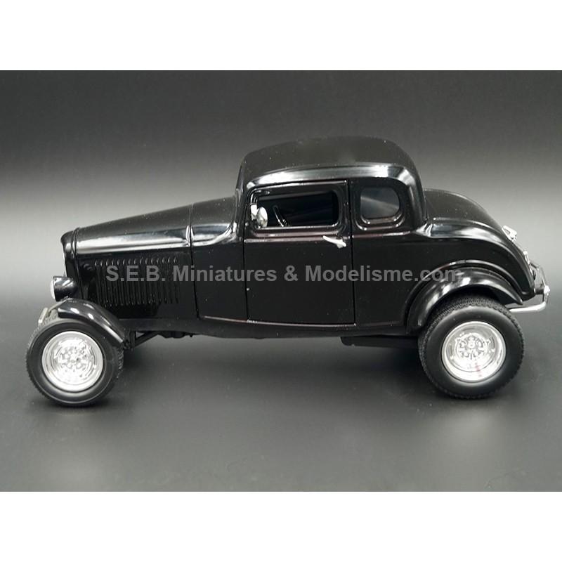 FORD CINQ WINDOW COUPE HOT ROD 1932 NOIRE 1:18 MOTORMAX VUE DE GAUCHE
