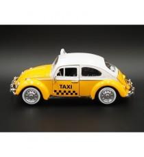 VW VOLKSWAGEN COCCINELLE TAXI 1966 MEXICO 1:24 MOTORMAX VUE DE GAUCHE