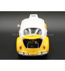 VW VOLKSWAGEN COCCINELLE TAXI 1966 MEXICO 1:24 MOTORMAX VUE ARRIRE CAPOT MOTEUR OUVERT