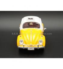 VW VOLKSWAGEN COCCINELLE TAXI 1966 MEXICO 1:24 MOTORMAX VUE DE FACE