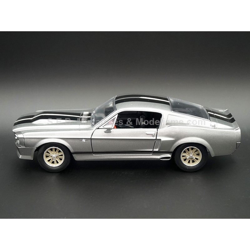 FORD MUSTANG SHELBY GT500 ELEANOR 1967 ( FILM 60 SECONDES CHRONO ) 1:24 GREENLIGHT VUE DE GAUCHE