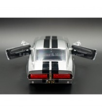 FORD MUSTANG SHELBY GT500 ELEANOR 1967 ( FILM 60 SECONDES CHRONO ) 1:24 GREENLIGHT VUE ARRIERE PORTES OUVERTES