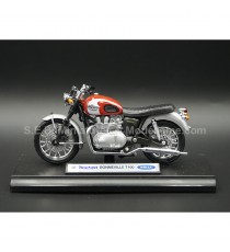 TRIUMPH BONNEVILLE T100 DE 2002 ROUGE 1:18 WELLY