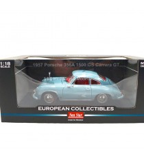 PORSCHE 356 A GS CARRERA GT 1957 BLEU MEISSEN 1/18 SUN STAR 1329