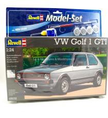 MODELKIT VW VOLKSWAGEN GOLF GTi 1:24 + 2 PINCEAUX + 1 FLACON DE COLLE 12,5g + 4 POTS DE PEINTURE REVELL ( MAQUETTE )