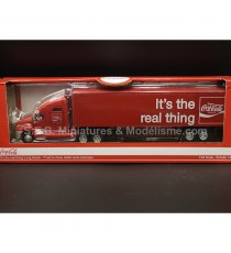 """CAMION SEMI-REMORQUE PUBLICITAIRE COCA COLA """" It's the real thing"""" rouge 1:64 MOCITY"""