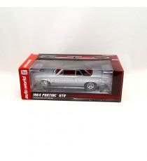 PONTIAC GTO 1964 ARGENT TOIT NOIR 1:24 AUTO WORLD