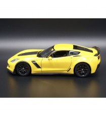CHEVROLET CORVETTE Z06 DE 2017 JAUNE 1:24 WELLY