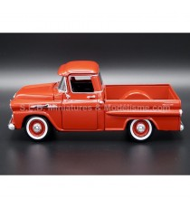 CHEVROLET CHEVY APACHE FLEETSIDE PICK-UP DE 1958 ROUGE 1:24 MOTORMAX