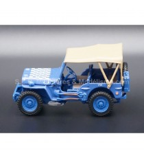 JEEP WYLLIS 1/4 MILITAIRE (AIRCRAFT DISPERSAL GUIDANCE) 1:43 CARARAMA