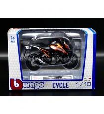 KTM 250 DUKE NOIR & ORANGE 1:18 BURAGO SOUS BLISTER