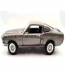 FORD MUSTANG SHELBY GT 500 KR GRISE 1:18 LUCKY DIE CAST