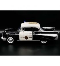 CHEVROLET BEL AIR 1957 POLICE PATROL AUTOROUTE COLIFORNIA 1:18 LUCKY DIE CAST