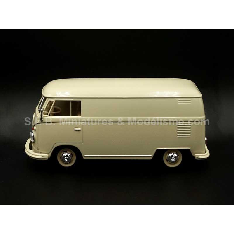 VW VOLKSWAGEN T1 FOURGON 1963 BEIGE CLAIR 1:24 WELLY côté gauche