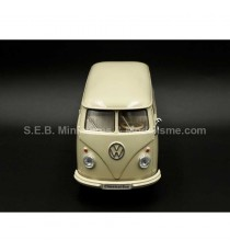 VW VOLKSWAGEN T1 FOURGON 1963 BEIGE CLAIR 1:24 WELLY face avant