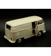 VW VOLKSWAGEN T1 FOURGON 1963 BEIGE CLAIR 1:24 WELLY porte latéral ouverte