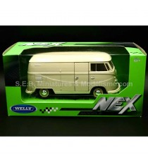 VW VOLKSWAGEN T1 FOURGON 1963 BEIGE CLAIR 1:24 WELLY SOUS BLISTER