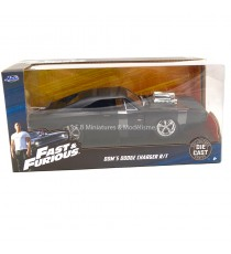 DODGE CHARGER 1970 DOM'S NOIR MAT ( FAST and FURIOUS 4) 1:24 JADA TOY sous blister