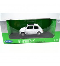FIAT 500 DE 1957 BLANCHE 1:18 WELLY