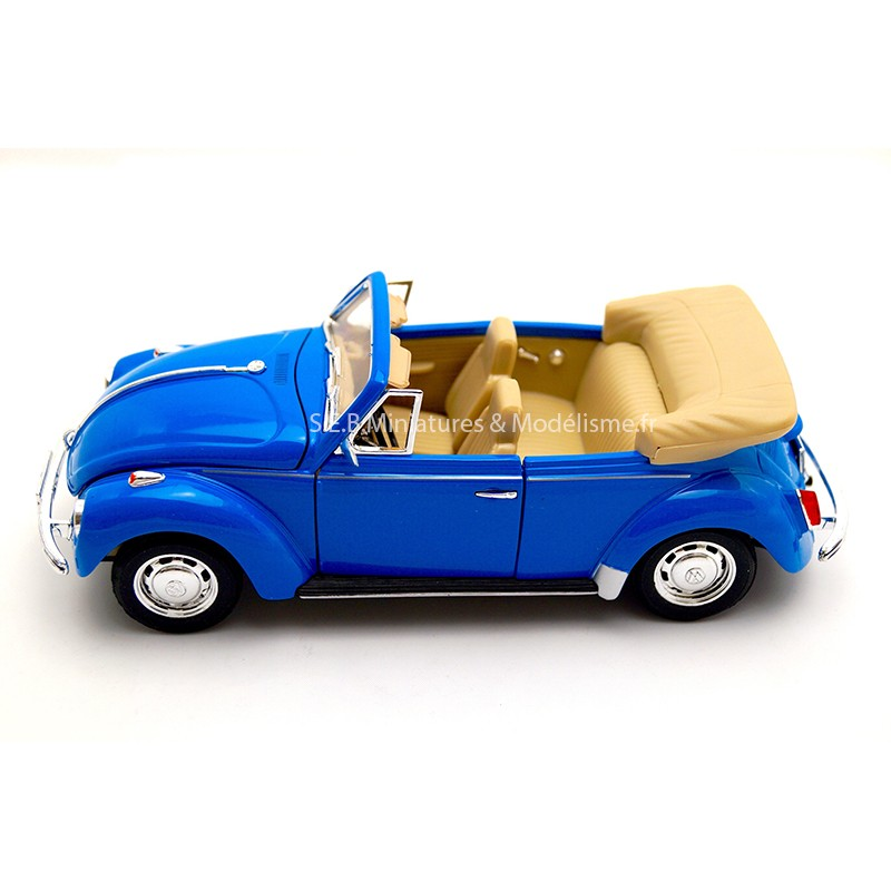 VW VOLKSWAGEN COCCINELLE COLÉOPTÈRE CABRIOLET OUVERTE 1:24 WELLY