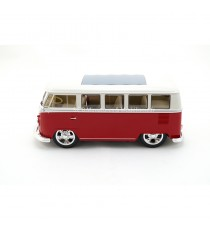 VW VOLKSWAGEN COMBI T1 BUS HOT RIDER 1963 ROUGE 1:24 WELLY côté gauche