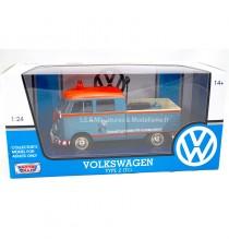 VW VOLKSWAGEN COMBI T1 TYPE II PICK-UP SERVICE CLIENTS VOLKSWAGEN REPARATION RAPIDE 1:24 MOTORMAX dans sa boîte