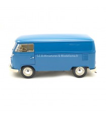 VW VOLKSWAGEN T1 FOURGON 1963 BLEU 1:18 WELLY