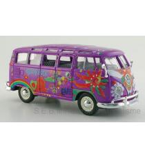 VW VOLKSWAGEN COMBI T1 SAMBA BUS HIPPIE LILAS 1:24-25 MAISTO