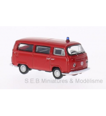 VW VOLKSWAGEN T2 BUS 1972 POMPIERS 1:87 WELLY