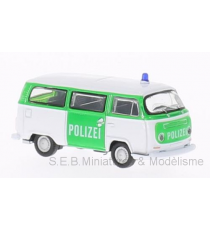 VW VOLKSWAGEN T2 BUS 1972 POLICE / POLIZEI 1:87 WELLY