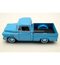CHEVROLET CHEVY APACHE FLEETSIDE PICK-UP DE 1958 BLEU 1:24 MOTORMAX