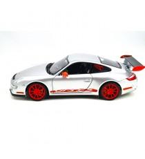 PORSCHE 911 GT3 RS 997 GRISE 2007, 1/18 WELLY, CÔTÉ GAUCHE