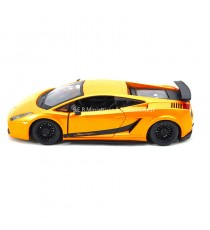 LAMBORGHINI GALLARDO SUPERLEGERRA ORANGE 1:24 BURAGO CÔTÉ GAUCHE