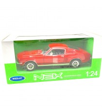 FORD MUSTANG GT DE 1967 ROUGE 1:24 WELLY