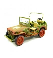 Jeep Willys US Army version look sale 1942 vert, 1/18 T9 avant gauche