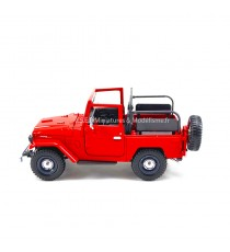 TOYOTA LAND CRUISER  F J40 SANS HARD-TOP ROUGE 1:24 MOTORMAX