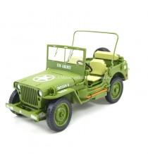 Jeep Willys US Army 1942 vert 1/18 T9 avant gauche