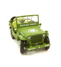 Jeep Willys US Army 1942 police militaire 1/18 T9 vue avant