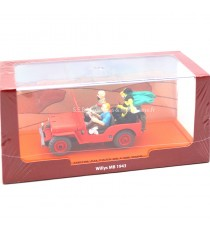 "JEEP WILLYS MB 1943 ""TINTIN AU PAYS DE L'OR NOIR"" 1:43 PRESSE"