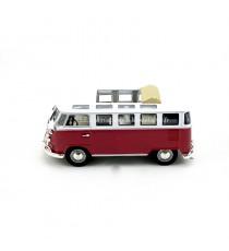 VW VOLKSWAGEN T1 SAMBA DE 1962 TOIT OUVERT MICROBUS BOURGOGNE 1:43 LUCKY DIE CAST