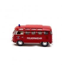 VW VOLKSWAGEN T1 SAMBA DE 1962 POMPIERS/FEUERWEHR MICROBUS - 1:43 LUCKY DIE CAST