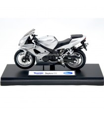 TRIUMPH DAYTONA 600 ARGENT 1:18 WELLY