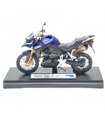 TRIUMPH TIGER EXPLORER BLEU 1:18 WELLY