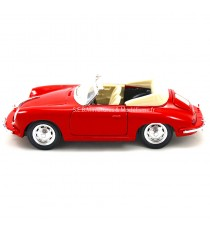 PORSCHE 356B CABRIOLET DE 1960 ROUGE 1:24 WELLY