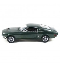 FORD MUSTANG GT DU FILM BULLITT DE 1968 HOLLYWOOD SERIE II 1:24 GREENLIGHT VUE DE GAUCHE