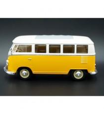 VW VOLKSWAGEN T1 BUS JAUNE / BLANC 1963 1:24 WELLY