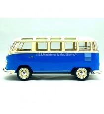 VW VOLKSWAGEN COMBI T1SAMBA BLEU/BLANC SERIE LIMITE 750PCS 1:18 KK SCALE