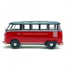 VW VOLKSWAGEN COMBI T1SAMBA ROUGE/NOIR SERIE LIMITE 750PCS 1:18 KK SCALE