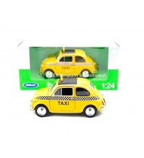 FIAT NUOVA 500 NYC TAXI JAUNE de 1957 - 1:24 WELLY